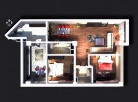 Vanzare apartament 3 camere, decomandat, bloc nou, zona 9 Mai
