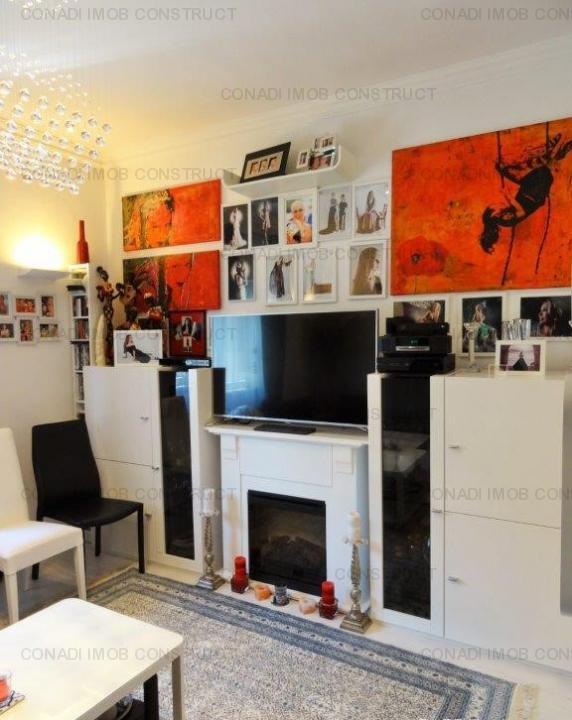 Piata Dorobanti, apartament duplex in vila, curte 103 mp