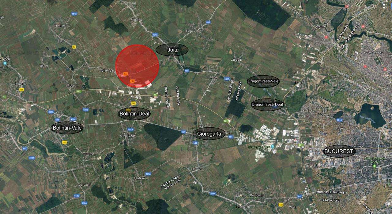 Teren cu PUZ (industrial) A1, km 23 – CTPark