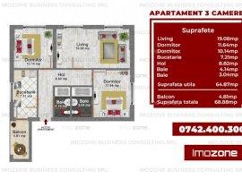 Apartament 3 camere decomandat Bucurestii Noi - Parc Bazilescu