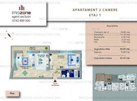 Ap. 2 camere, spațios, 63mp, balcon, Prelungirea Ghencea- Sere, COMISION 0%.