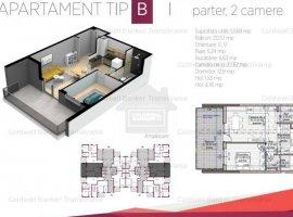 Vanzare  apartament  cu 2 camere  semidecomandat Cluj, Cluj-Napoca  - 59216 EURO