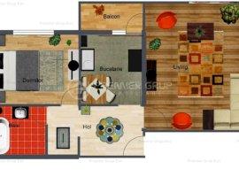 Etaj 2! Apartament 2 camere, Galata, 50mp, termoizolat, decomandat !!
