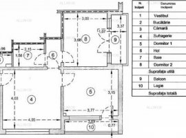 Vanzare apartament 3 camere in Ploiesti, zona Nord, Cameliei