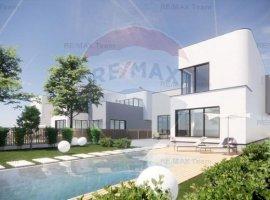 Teren 695 mp cu proiect arhitectural, casa 5 cam Dumbraveni, Balotesti