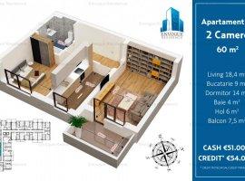 Apartament 2 Camere Spatios-Decomandat 60 mp, Militari,Iuliu Maniu