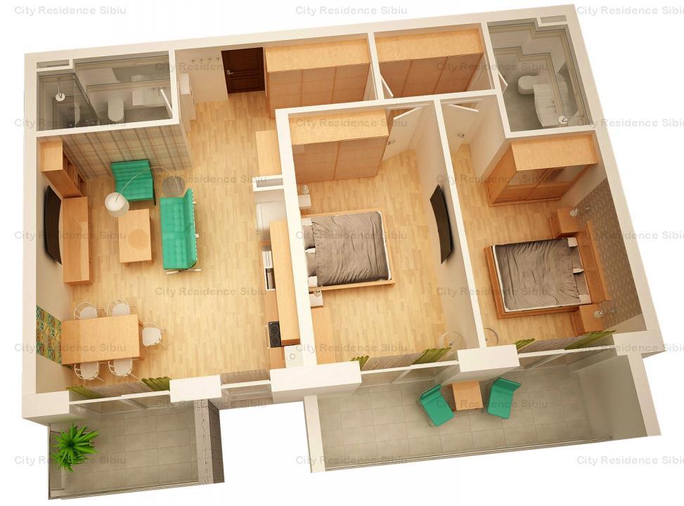 Apartament 3 camere | Arena Village | Etaj 1 | Tip 3