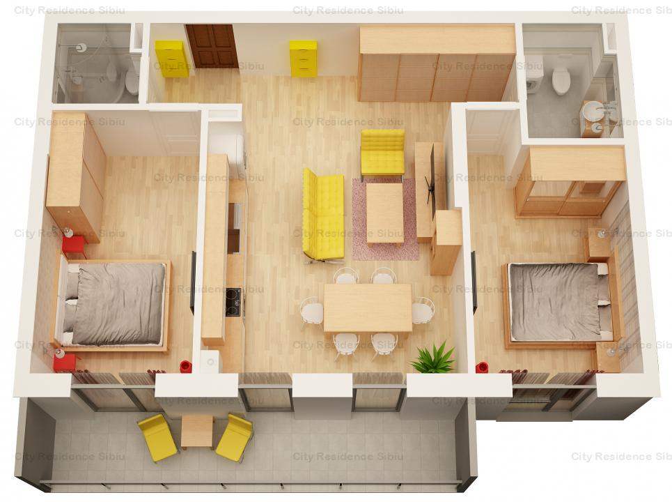 Apartament 3 camere | Etaj 2 | Model Tip 3