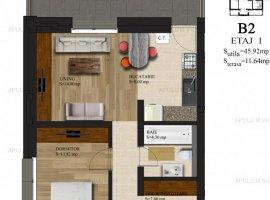 De vanzare apartament 2 camere pe Soseaua Alexandriei, 57,56mp.