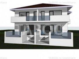 Duplex 5 camere de vanzare cu 225 mp teren liber in Cisnadie Sibiu