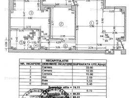 Baneasa-Iancu Nicolae, apartament 3 camere, et.2/5, bloc nou, 81 mp, loc parcare