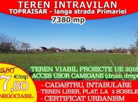Vanzare  terenuri constructii  7380 mp Constanta, Topraisar  - 7 EURO