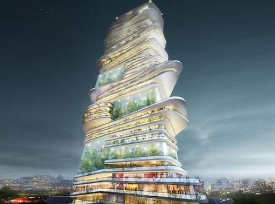 O echipa de arhitecti a propus crearea unui oras vertical