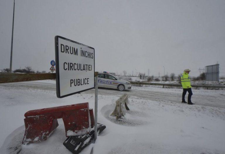 25 de drumuri nationale si 2 autostrazi, inchise din cauza vremii! Afla care sunt judetele cel mai afectate