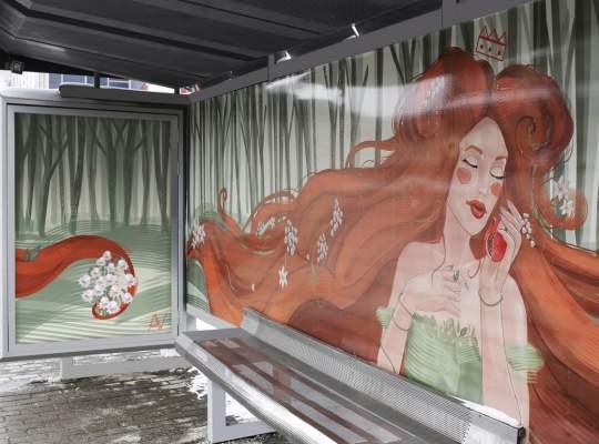 Iasi - Opere de arta expuse in statiile de transport si  panouri publicitare stradale