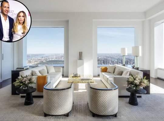 Cum arata noul apartament de 15 milioane de dolari cumparat de Jennifer Lopez si Alex Rodriguez?