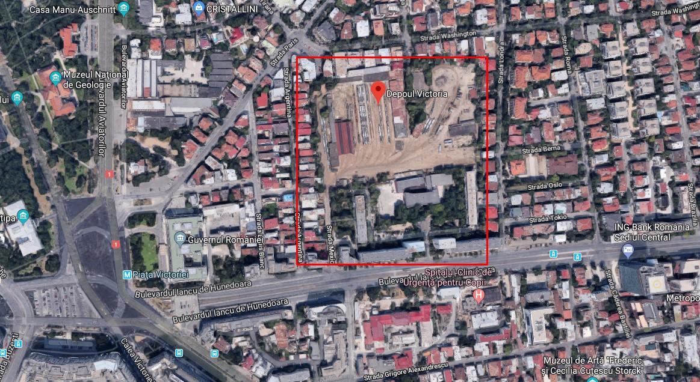 Tun imobiliar? Soarta incerta pentru Depoul Victoria, terenul imens de 70 de milioane de euro din inima Capitalei