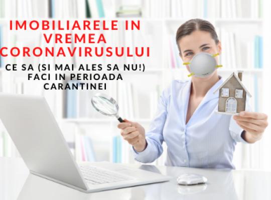 Special pentru agentii imobiliari! Imobiliarele in vremea coronavirusului - Ce sa (si mai ales sa NU!) faci in perioada carantinei