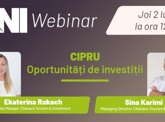Webinar TNI:  Cipru- Oportunități de investiții!